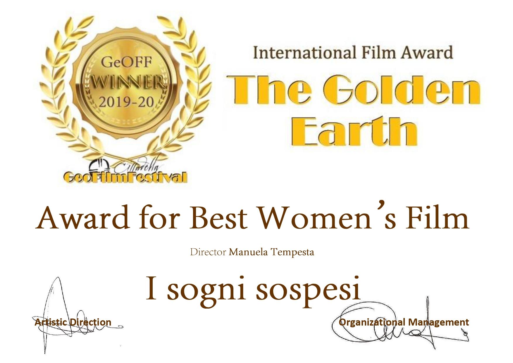 Premio Miglior Film Al Femminile